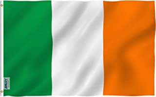 Anley Fly Breeze 3x5 Foot Ireland Flag - Vivid Color and UV Fade Resistant - Canvas Header and Double Stitched - Irish National Flags Polyester with Brass Grommets 3 X 5 Ft