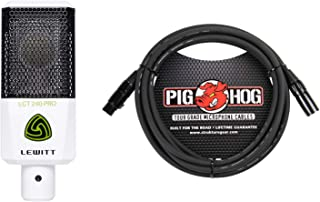 Lewitt Audio LCT 240 Pro (White) + PigHog PHM10 10 Foot XLR Cable