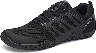 Voovix męskie buty do zakładania na bose stopy, sportowe buty do biegania w terenie, szerokie czubki, minimalistyczne, ant...
