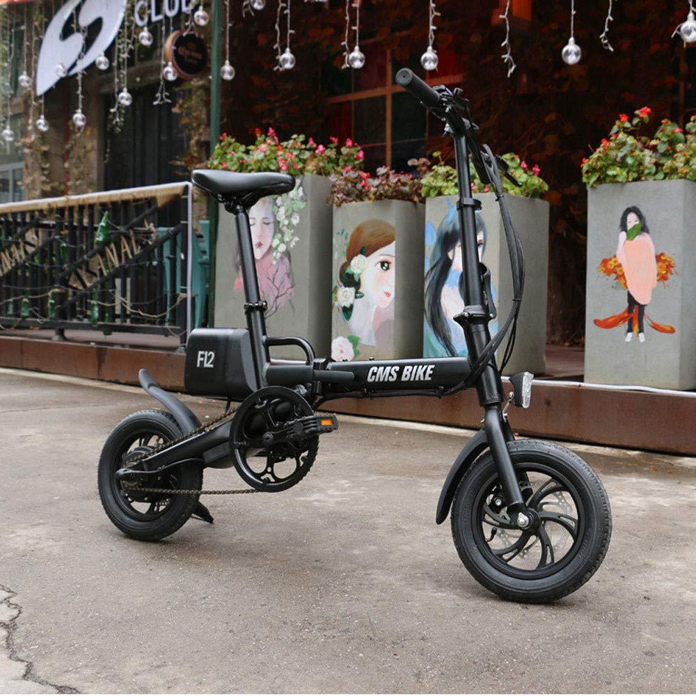 JH Bicicleta eléctrica Plegable, de 12 Pulgadas USB Desmontable de ...