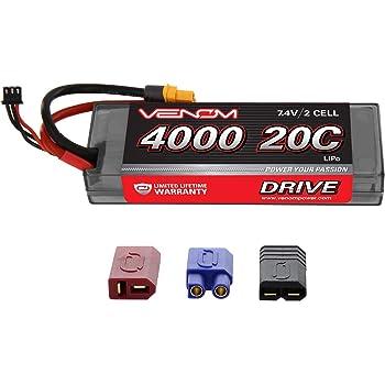 Venom 20C 2S 4000mAh 7.4V Hard Case LiPo Battery with Universal Plug (EC3/Deans/Traxxas/Tamiya)