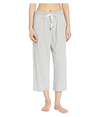 LAUREN Ralph Lauren Capri Pants with Wide Waistband (Grey Stripe) Women