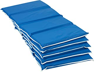 """Children`s Factory 2"""" Tough Duty Folding Blue Rest Mats for Toddlers & Kids, 4-Fold Daycare Sleeping Floor Mat, Portable F..."""
