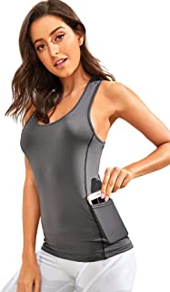 Women's Sleeveless Flowy Loose Fit Racerback Yoga Workout Tank Top