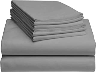 "LuxClub 6 PC Sheet Set Bamboo Sheets Deep Pockets 18"" Eco Friendly Wrinkle Free.."