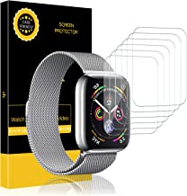 LK [6 Pack Screen Protector for Apple Watch 40mm / 38mm (Series 5/4/3/2/1 Compatible), [Bubble-Free] HD Clear Flexible film with Lifetime Replacement Warranty