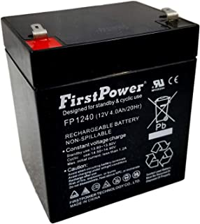 FirstPower FP1240 12V 4AH SLA Replacement for PS4-12 Battery with F1 Terminal