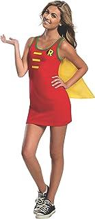 Rubie's DC Comics Justice League Superhero Style Teen Dress with Cape Robin, Red, Medium Costume