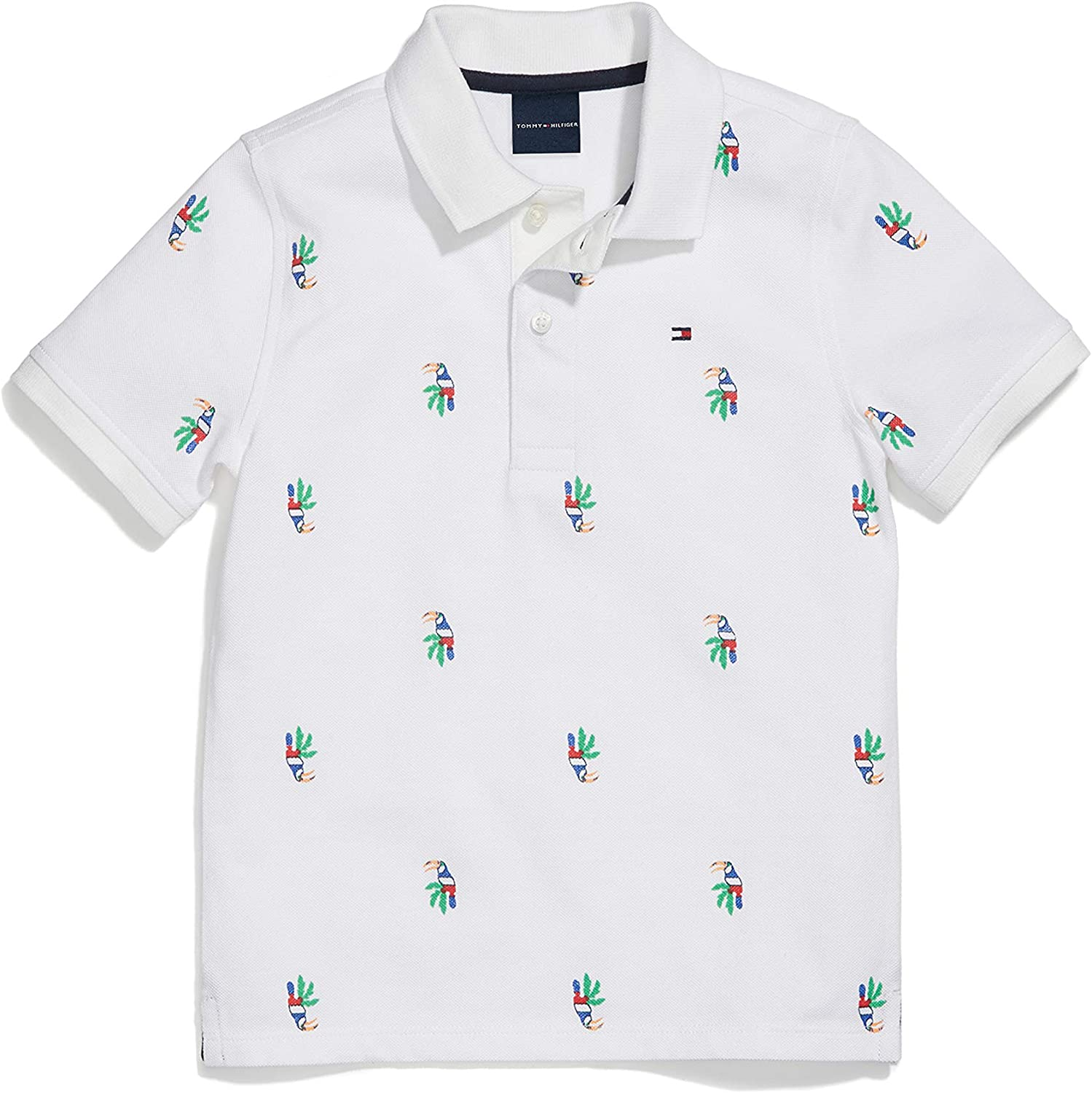 Tommy Hilfiger Boys Adaptive Polo Shirt with Magnetic Buttons