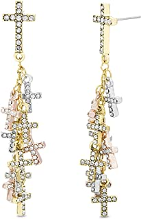 Best rhinestone cross earrings Reviews