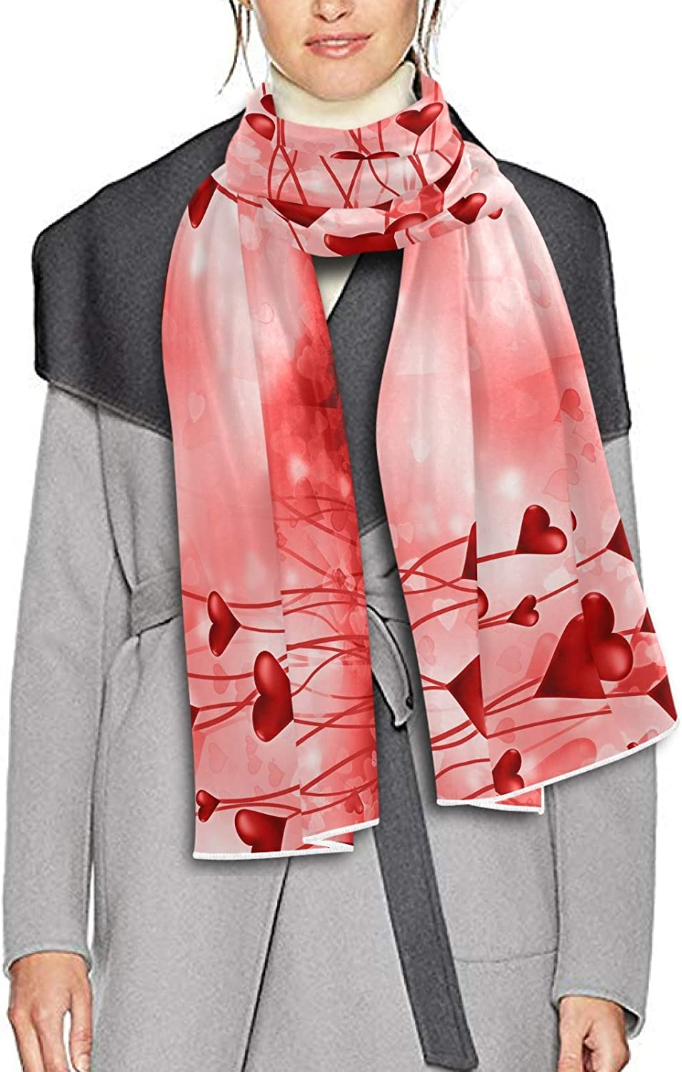 Scarf for Women and Men Valentine's Day With Hearts Blanket Shawl Scarves Wraps Thick Soft Winter Large Scarves Lightweight