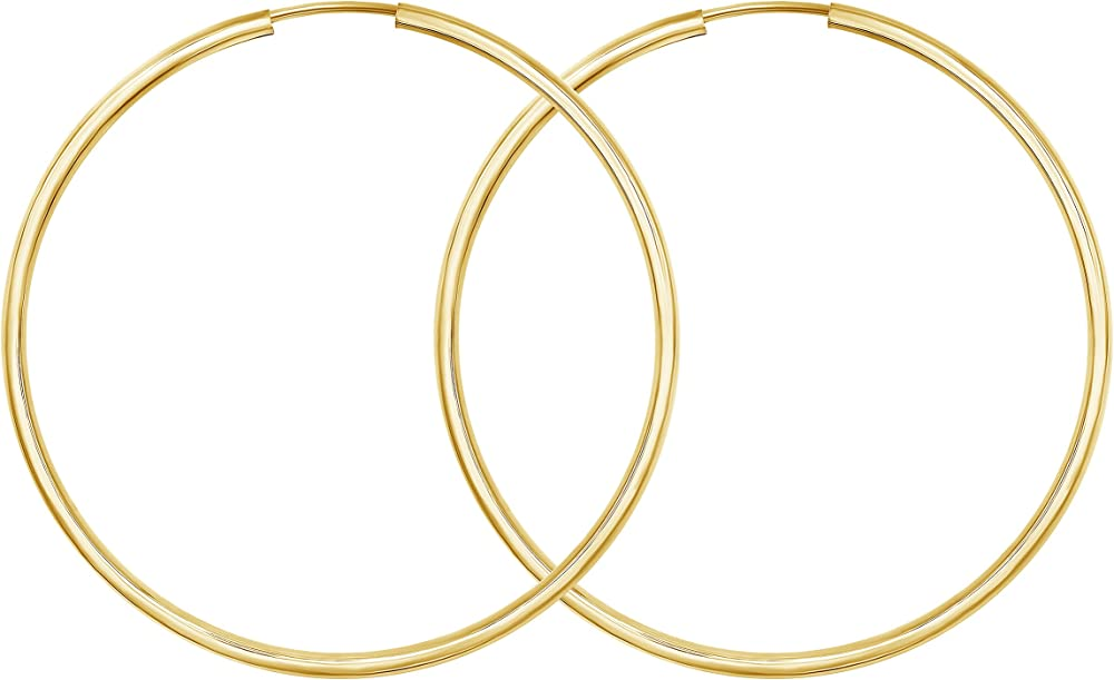 Edelweiss orecchini a cerchio donna in oro giallo 14 kt 20FBG0004