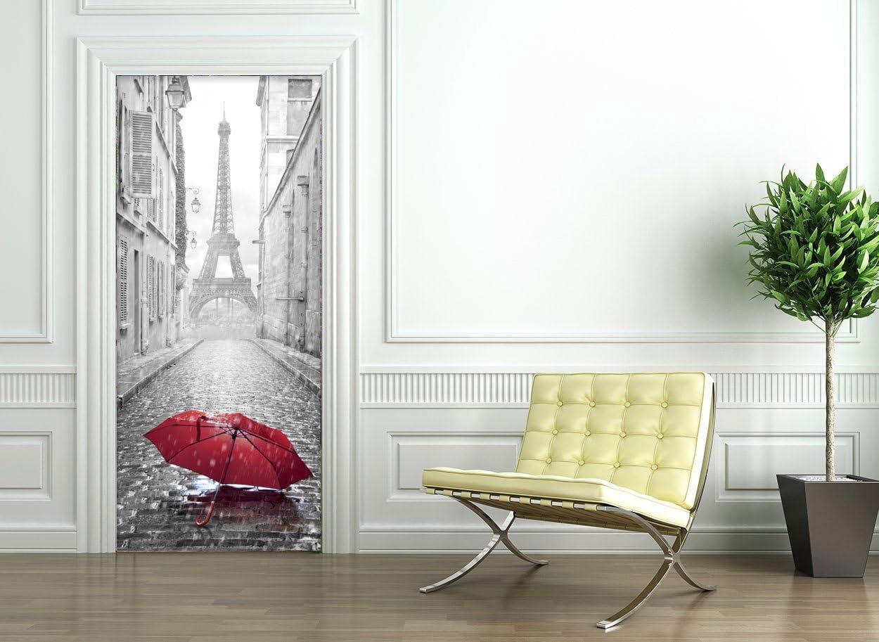 Salon Salle de Bain Chambre Style Papier Peint pour Les Murs Sticker Porte Effet 3D D/écoration pour Porte Cuisine Autocollant Trompe l/œil pour Porte Harry Potter Voie 9 3//4-204 x 83 cm
