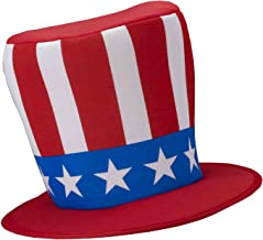Forum Novelties Adults Patriotic American Uncle Sam Star Spangled Top Hat Costume Accessory