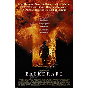 MCP121 Posters USA Backdraft Kurt Russell Movie Poster Glossy Finish