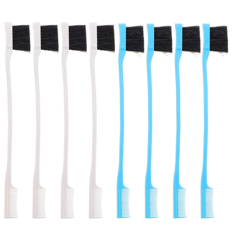 8pcs Eyebrow Elegant Comb Brush Groomi Eyelash Separator Import