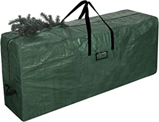 UMARDOO Christmas Tree Storage Bag-Holiday Tree Storage Case Fits Up to 9 Foot Xmas Disassembled Trees with Durable Reinforced Handles & Dual Zipper (Green, 60x15x30 in)