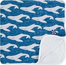 KicKee Pants Little Boys Print Toddler Blanket - Twilight Whale, One Size