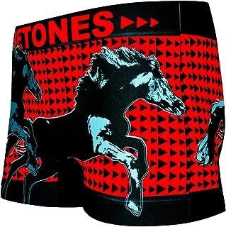 BETONES (ビトーンズ) メンズ ボクサーパンツ ANIMAL4 ウマ dwearsステッカー入り ローライズ アンダーウェア 無地 ブランド 男性 下着 誕生日 プレゼント