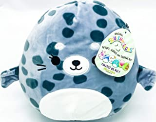 """Squishmallow Kelly Toys Isis The 8"""" Spotted Seal Super Soft Stuffed Plush Toy Pillow"""