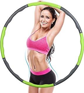 Molbory cerceau de Hula Hoop, Cerceaux de fitness avec poids réglable et mousse de qualité supérieure pour Mixte adulte