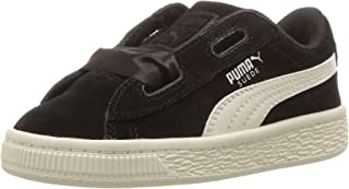 PUMA Kids' Suede Heart Jewel Sneaker