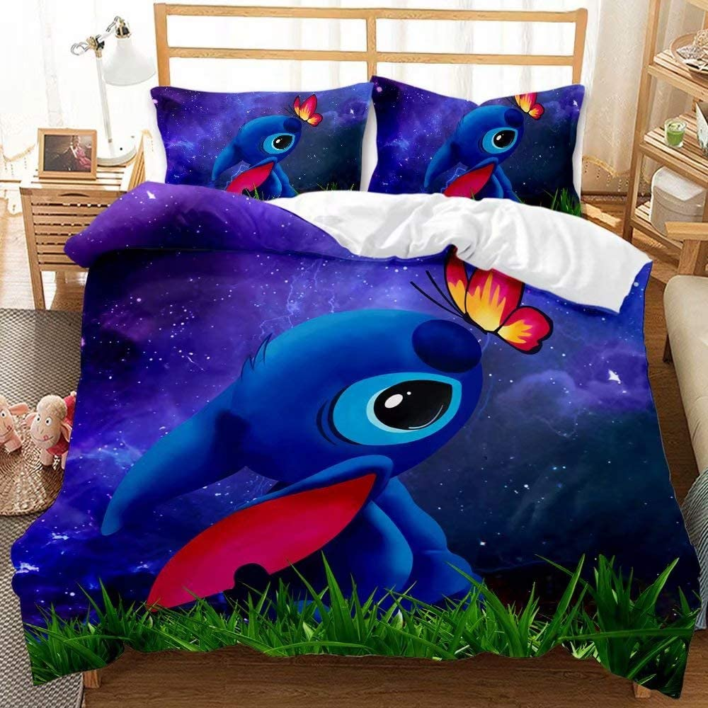 Haonsy Lilo Stitch King Size Duvet Bedding Boys Sets for Limited Special Price Cover Ranking TOP8