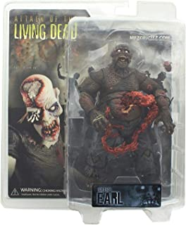 Attack of the Living Dead (Afterlife) Mezco Toyz Zombie Action Figure Earl Dark Skin Eyeball Popping Out Variant