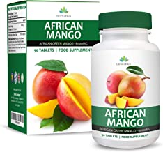 African Mango – 6000mg Pure Irvingia Gabonensis Extract – Maximum Strength Green Mango Supplement for Men Women – Suitable for Vegetarians- 90 Tablets 3 Months Supply Vegetarian by Earths Design Estimated Price : £ 16,97