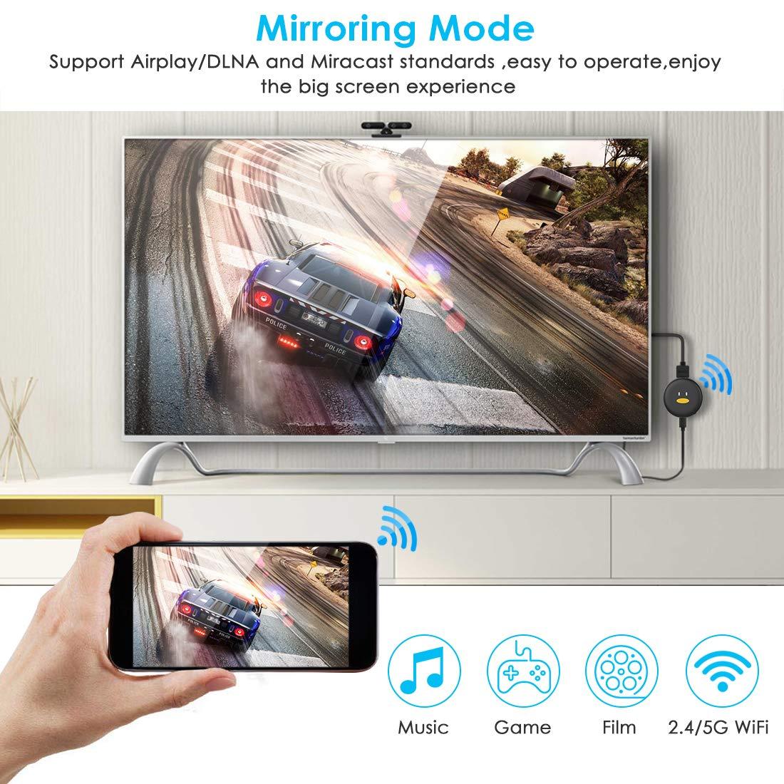 Chromecast ,Timoom 5G/2.4G WiFi Display Dongle original chromecast ...