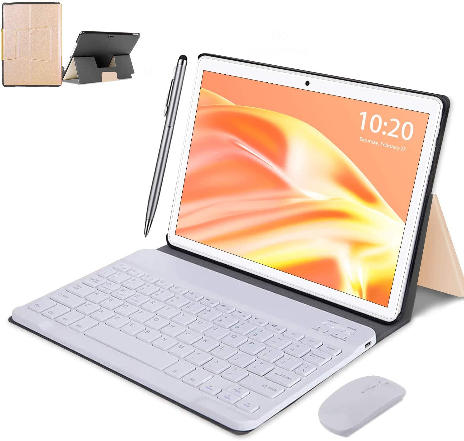 2 in 1 4 years warranty Tablet 10 Inch Android Max 75% OFF RAM 64GB ROM Tablets 4GB Tab