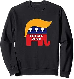Re-elect President Trump 2020 GOP Republican Elephant Hair Sweatshirt