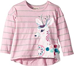 Pretty Deer Long Sleeve Tee (Toddler/Little Kids/Big Kids)