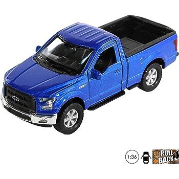 Welly 2015 Ford F-150 Regular Cab Pick Up 1//24 Scale Diecast Model Toy Car Blue 24063WBU