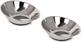Ourpets Company 2400012856 Tilt-A-Bowl Stainless Steel, Small/2.5 Cup (2-Bowls)