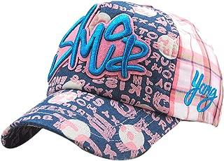 MTFS Boys Hip Hop Cotton Letter Baseball Caps Truck Hats