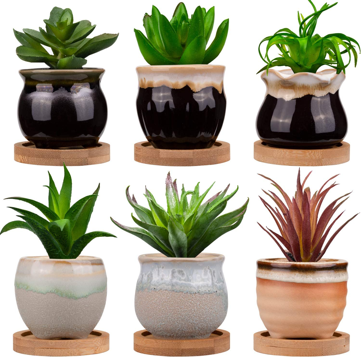 Jucoan 6 Pack 2.5 Inch Small Al sold out. free shipping Planter Succulent Min Pots Ceramic