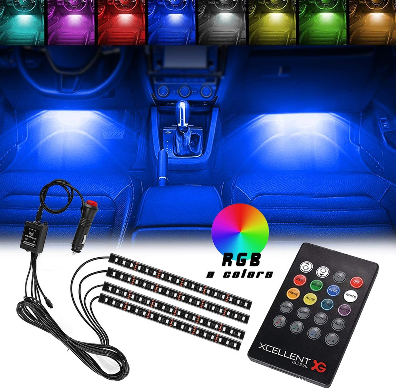 Xcellent Global 4pcs 12 Inch 8 LED Color Light Max 41% OFF Interior Deco Phoenix Mall Car