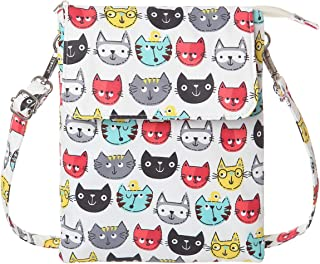Small Crossbody Bag Printed Fabric Cell Phone Purse With Credit Card Slot