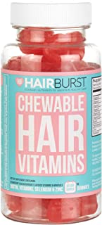 HAIRBURST Chewable Hair Growth Vitamins - Contains Biotin for Hair Growth - for Longer, Stronger, Thicker Looking Hair -1 Month Supply - 60 Gummies