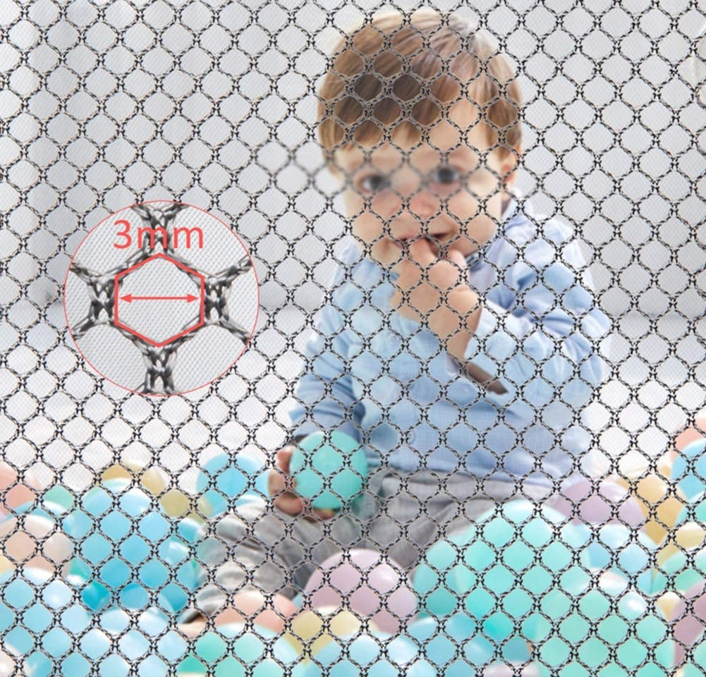 Hyzb Parc D'activités pour Enfants Clôture De Sécurité pour Enfants Centre D'activités Pliable pour Enfants Jeu Individuel (Couleur : Multicolore) Marron