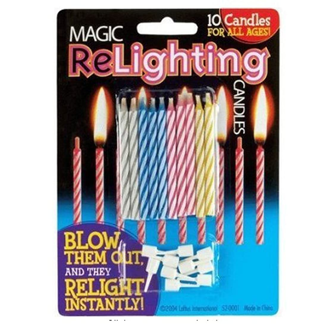 Magic Relighting Birthday Candles (20 Candles Per Package)