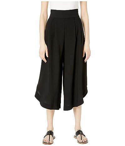 See by Chloe High-Rise Wide Leg Pants (Black) Women