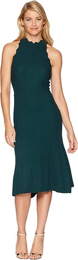 Freida Knit Scallop Sweater Dress