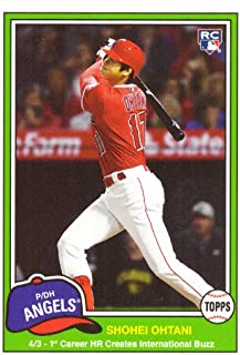 2018 Topps Throwback Thursday (TBT) Baseball #229 Shohei Ohtani Rookie Card - Hits First Career Home Run - Only 667 made!