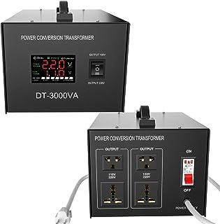 3000 Watt Voltage Converter 110V 220V Transformer - Heavy Duty - Step Up/Down AC 110V/120V/220V/240V Power Converter
