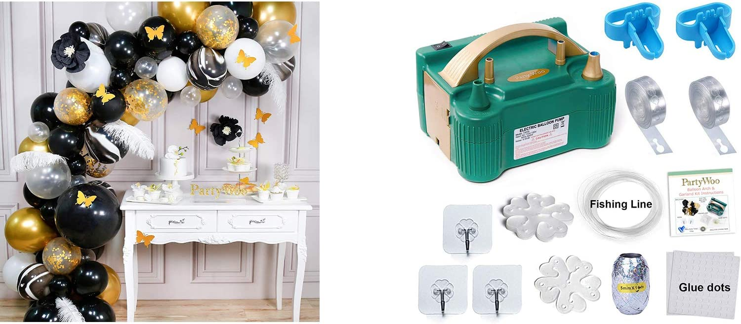 Bundle - Gold Black Balloon Reservation Arch Pump and Max 68% OFF Kit pcs 98