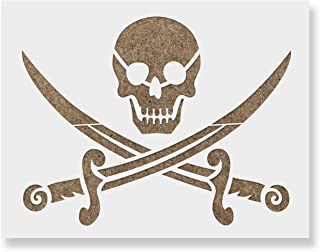 Pirate Stencil Template - Reusable Stencil with Multiple Sizes Available