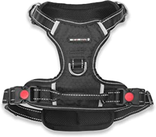 Premium No Pull Dog Harness, Adjustable Pet Soft Vest Harness with Reflective Oxford Material, Perfect for Large Medium Dogs Walking Training Outdoor, Easy Control
