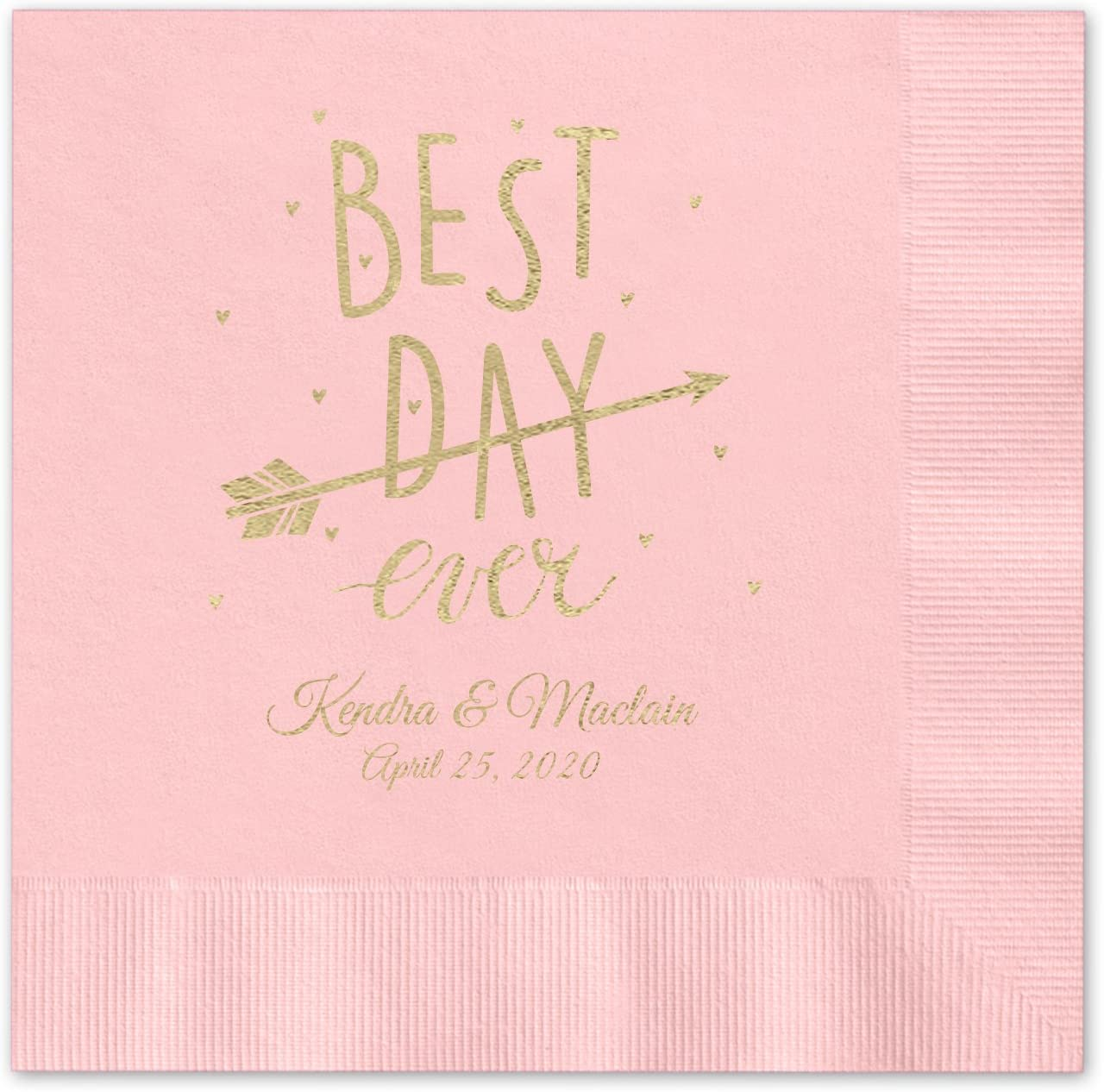 Best Day Ever Animer and price revision Arrow Personalized - Beverage supreme 100 Cocktail Napkins
